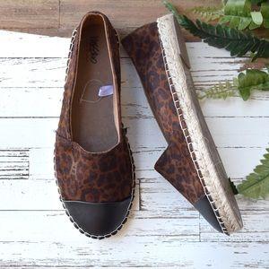 Shoes - NEW Leopard Espadrilles size 8.5